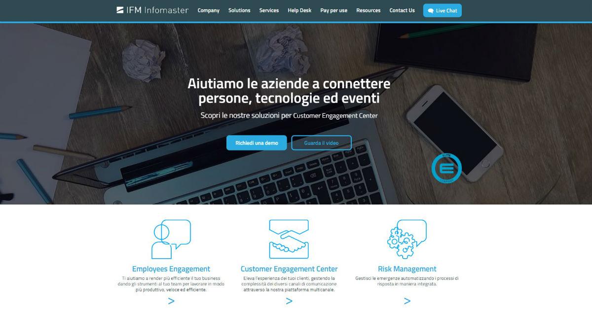 Cover Benvenuto nel nuovo sito di IFM Infomaster
